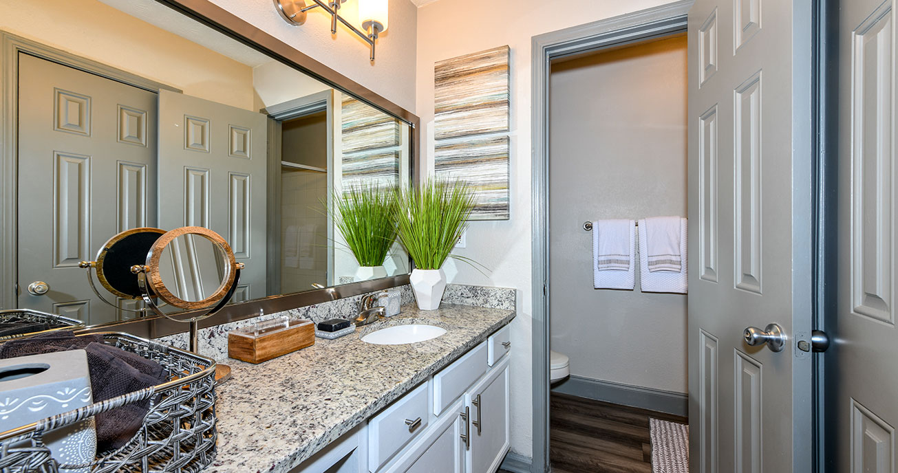 bathroom with door, 550 Abernathy, atlanta ga