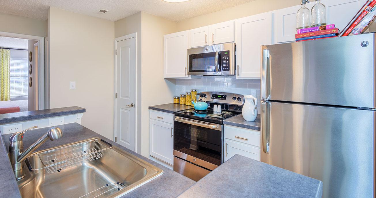 apartment kitchen, magnolia terrace, charlotte nc